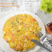 春野菜と切干大根のスパニッシュオムレツ