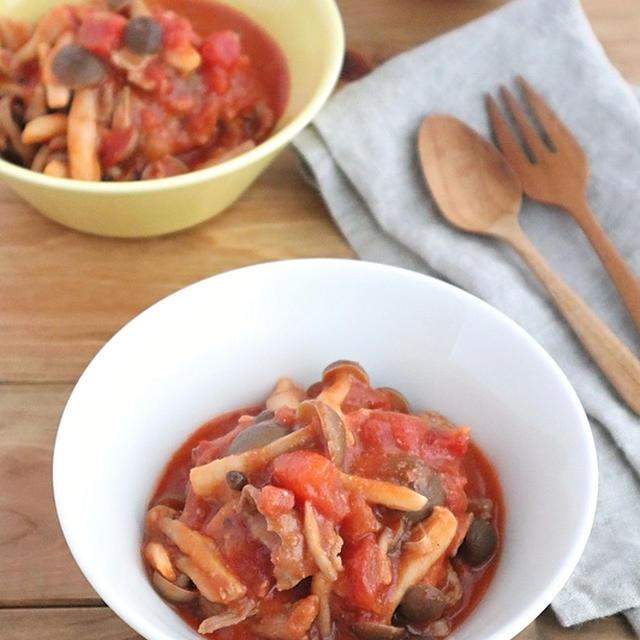 うま味たっぷり◎低糖質!豚肉としめじの味噌トマト煮込み