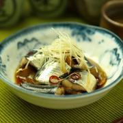 いわしの生姜煮   電子レンジで煮魚