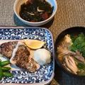 お取り寄せの魚の最後三日間の食卓 ♪粕漬け&干物二種♪