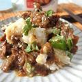 赤貝の味噌煮缶で簡単☆ 赤貝とたたき長芋の大葉和え