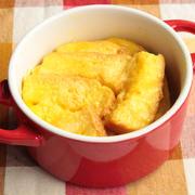 コンポタと食パンで簡単!レンジだけでできるキッシュ風パングラタンの作り方。