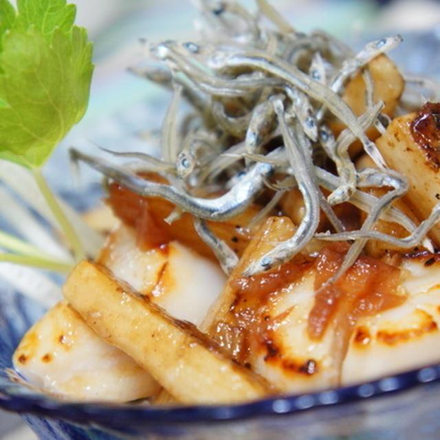 ♪ 5/15 ミニ丼シリーズ・・ホタテと長芋の梅にんにく醤油♪