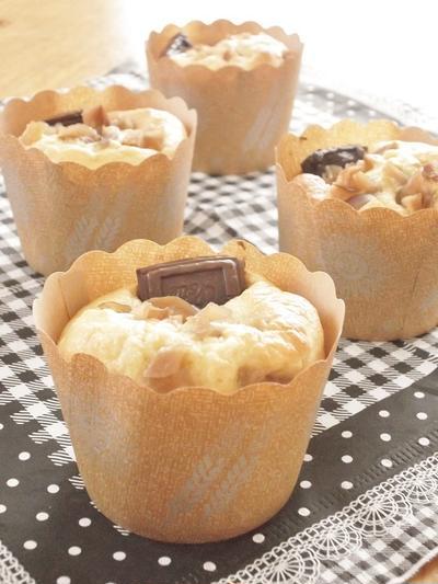 りんごとチョコのスフレカップケーキ