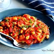 ♡煮込み5分♡豚肉と大豆のトマト煮♡【#簡単#時短#節約】