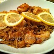 鶏胸肉のレモン醤油焼
