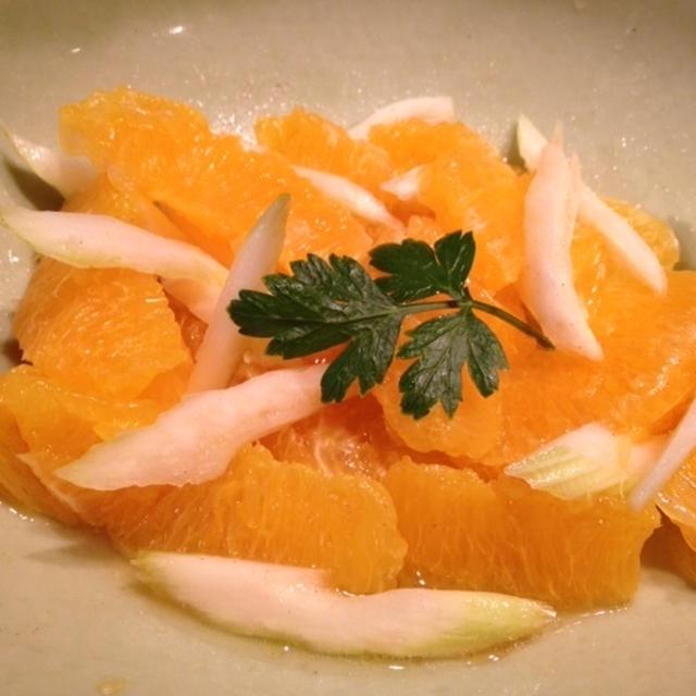 爽やか オレンジとセロリのサラダ♡