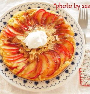 りんごの豆乳ホットケーキ