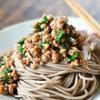 花椒風味の京風肉みそ蕎麦
