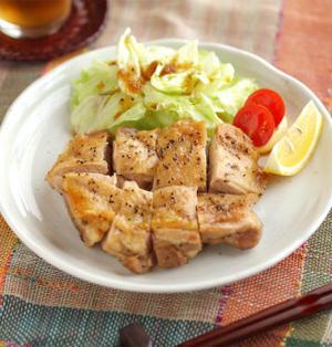 鶏もも肉の塩焼き 、 オーブントースターでヘルシーレシピ