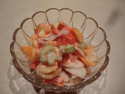 海老のカクテルサラダ