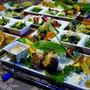 ■連休中のおもてなし①【ノンフライヤー調理で ジャンボチーズインハンバーグ他菜園野菜料理】です♪