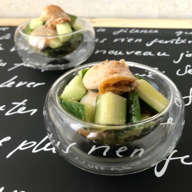 【夏にぴったり爽やかな副菜】食欲アップ↑ホタテときゅうりのオリーブオイル和え♡レシピ