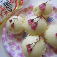 本みりん使用♡もちもちふわふわな桜の甘酒蒸しパン