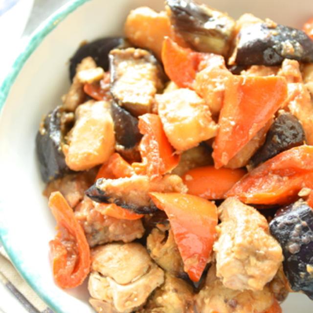 #395 鶏と茄子の梅味噌ソテー