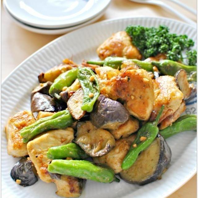 スパイス便 - 鶏肉と茄子シシトウのスパイシーピーナッツ炒め