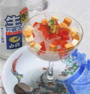 おつまみ、デザート?夏におすすめ生貯蔵酒シャーベット。