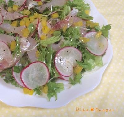 お野菜いっぱ〜い*ラデッシュと鯛のカルパッチョ♪