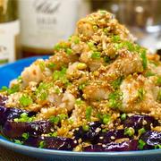 【レシピ】茄子と鶏むね肉のやみつき香味ダレ