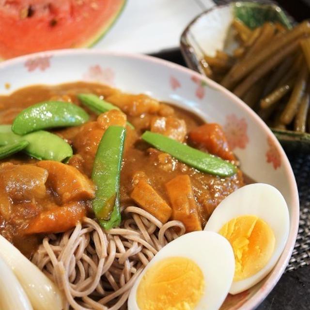 ■ランチメニュー【竹の子カレーのぶっかけ蕎麦/蕗の甘辛炒め煮】