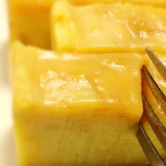 さつまいもの[カラメルソース付き]芋ようかんが、クレームブリュレみたいだと話題のレシピ