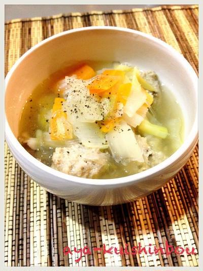 肉団子と春雨のあったかスープ