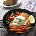 鮭と野菜のロースト ~材料2つで簡単! uniさんのオランデーズソース & ありがとう♪