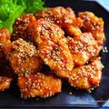 ♡揚げない&漬け込みなし♡鶏むね肉de甘辛唐揚げ♡【#簡単#時短#節約#お弁当】