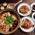 ばたばたの晩御飯☆肉団子ときのこの塩麹鍋♪~♪
