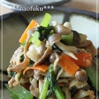 凛りんさんちのハチミツみそde豚と小松菜の生姜炒め
