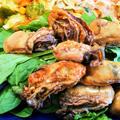 有機の胡麻を炒る ~ 風邪には大正ルゴール ~ 牡蠣の麺つゆ炒め