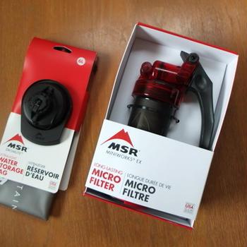 浄水器 MSR MiniWorks-EX 購入しました。
