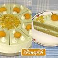 抹茶のショートケーキ(栗トッピング)【デコレーションケーキ】 by パンジーAさん