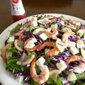 【簡単レシピ】ボイル海老とモッツァレラの彩りサラダ♪