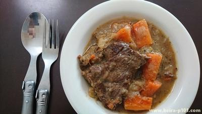 【レシピ】牛肉は白ワインで煮込んでもおいしい