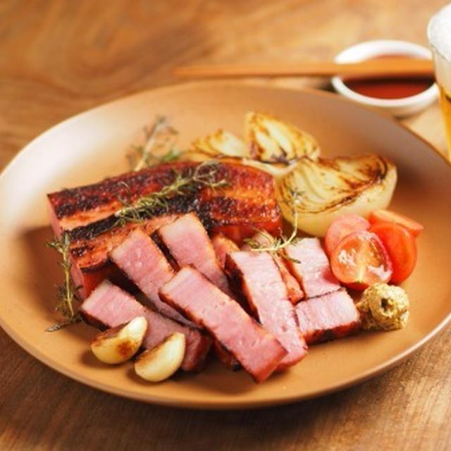 厚切りベーコンステーキ Thick Cut Bacon Steak  by 筋肉料理人