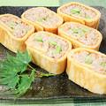 フープロとオーブンで楽ちん!!鮭フレークはダブル使い♪ 鮭フレークと枝豆のたまご巻きご飯