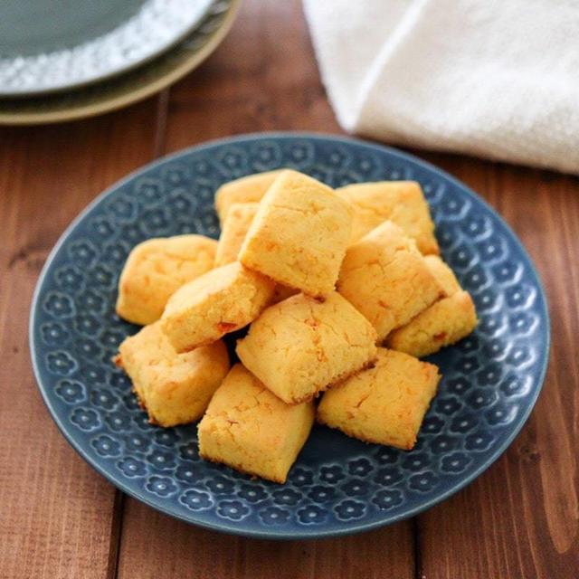 人参米粉スコーン♪卵なし小麦粉なしバターなし!簡単米粉レシピ