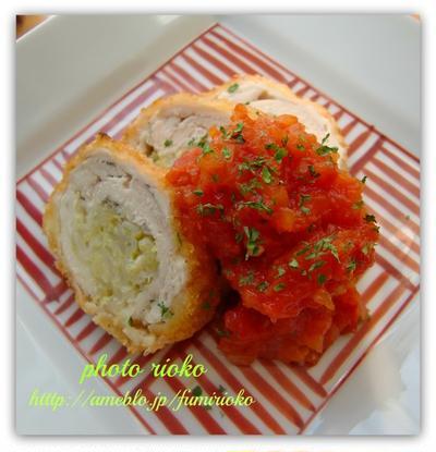 ●チキンのキャベツロールカツ トマトソース●