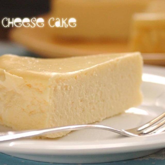 白いチーズケーキ。