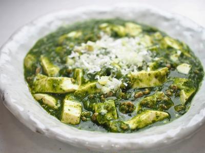 緑の麻婆豆腐