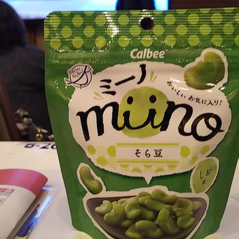 RSP70 サンプル百貨店 お台場 ☆ カルビー miinoそら豆しお味