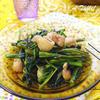 空芯菜と鶏皮のエスニック炒め