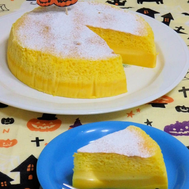 米粉で作る、かぼちゃの魔法のケーキ