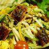 花椒で決める!鰻と塩コンブと野菜のサラダ