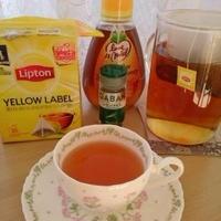 レモングラス・はちみつティー♪ミルクミニ食パン♪朝ごはんプレート♪
