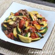 【ズッキーニのレシピ】牛肉とズッキーニとトマトの炒め物 、ズッキーニのフライ