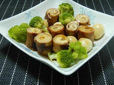 豚丼の具で・・ヘルシー豚肉ロールの中華煮