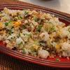 あらびきガーリックと新生姜のシンプル炒飯