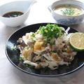 茹で鶏ときのこのおろし和え ~自家製かぼすポン酢で♪ by カシュカシュさん